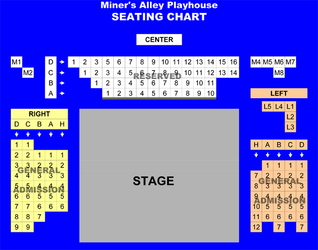 Miner's Alley Seating Chart