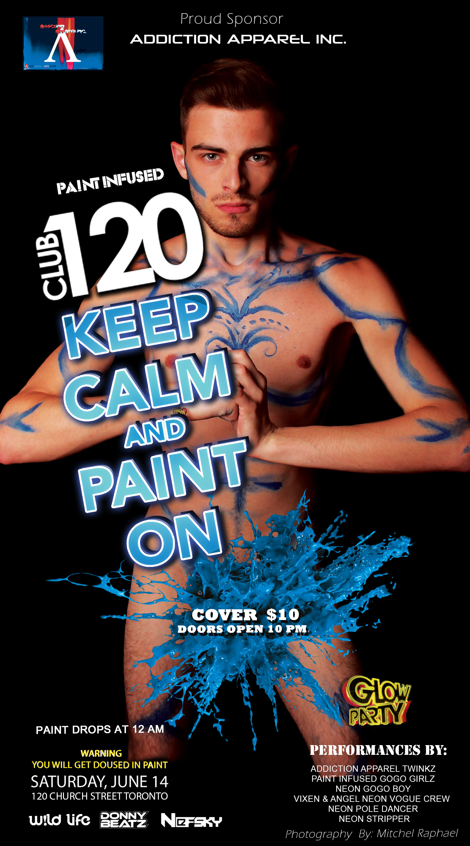 tickets for club 120 glow in the dark paint party in toronto from ripticket. Black Bedroom Furniture Sets. Home Design Ideas