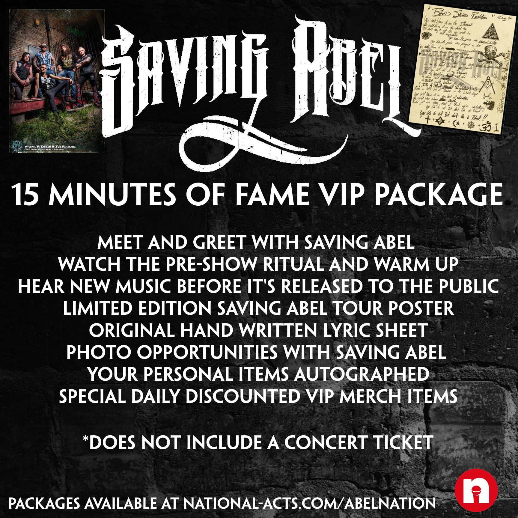 Tickets for saving abel vip lake charles la in lake charles saving abel vip lake charles la kristyandbryce Images