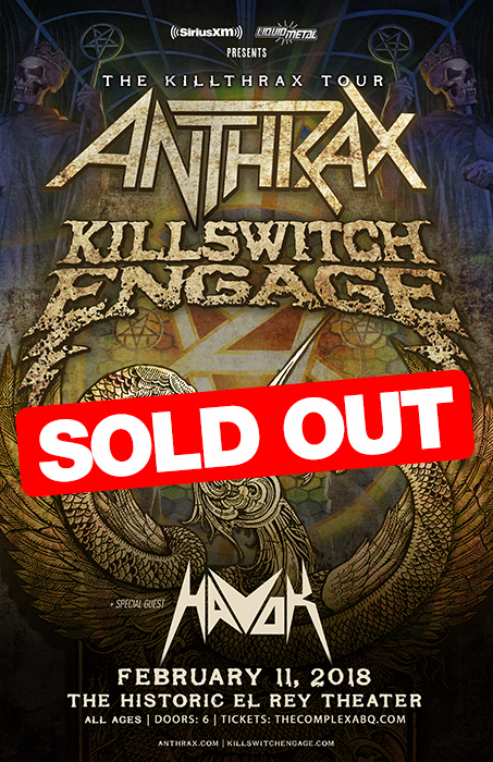 Tickets for sirius xm presents anthrax killswitch engage in sirius xm presents anthrax killswitch engage m4hsunfo