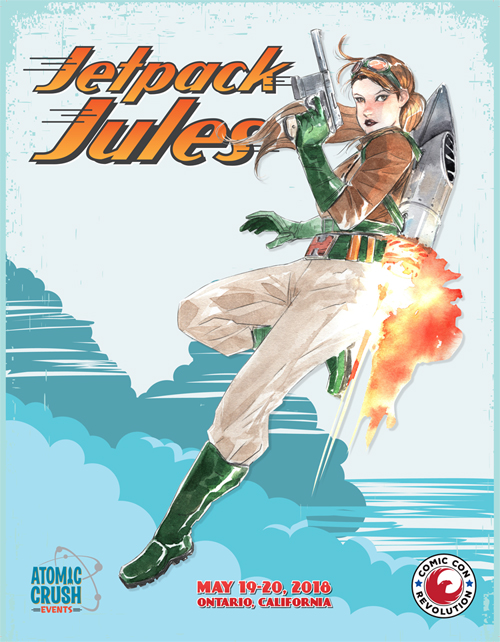 Free CCR Jetpack Jules Print by Dustin Nguyen