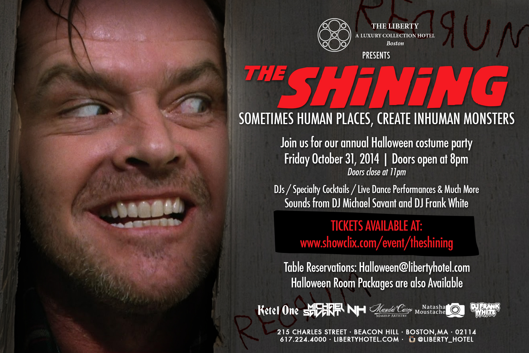 Tickets for The Liberty Hotel Presents: The Shining in Boston from ...